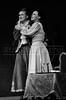 """Margarita Sanz, izq, y Blanca Sanchez  en """"La Opera de 3 centavos"""" de Bertolt Brecht, teatro Fru-Fru, Mexico DF, Mexico, Noviembre 1977. (Austral Foto/Renzo Gostoli)"""