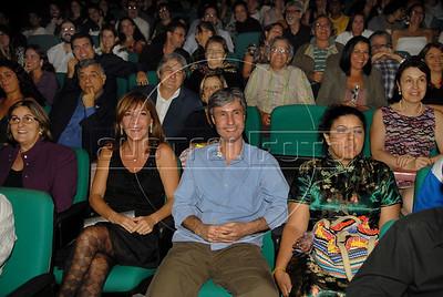 Festa de entrega dos Premios Cinema da ACIE 2009, Rio de Janeiro, Brazil, Maio 18, 2009. Alicia Pardies e Marcelo Cajueiro, publico. (Austral Foto/Renzo Gostoli)
