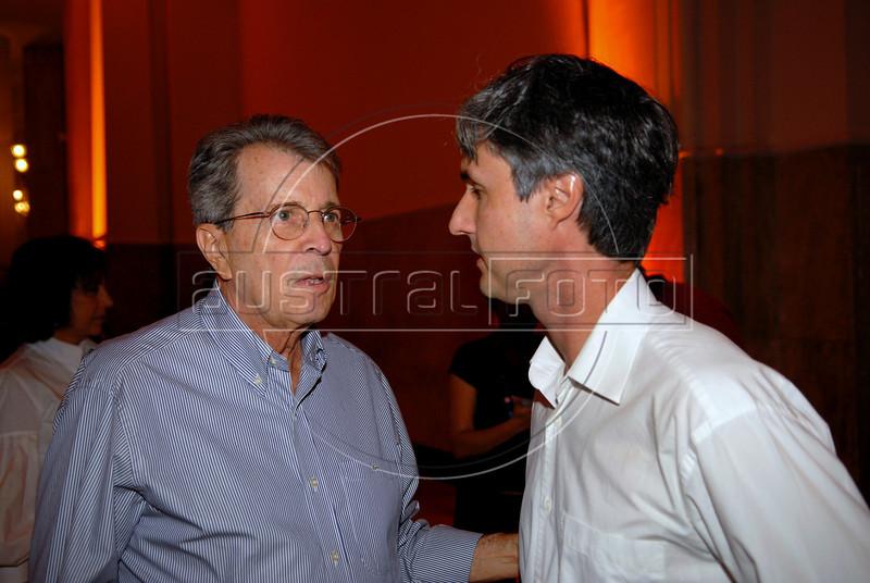 Daniel Filho e Marcelo Cajueiro na abertura da Mostra do Prêmio ACIE de Cinema 2009, Rio de Janeiro, Brazil, Maio 4, 2008. (Austral Foto/Renzo Gostoli)