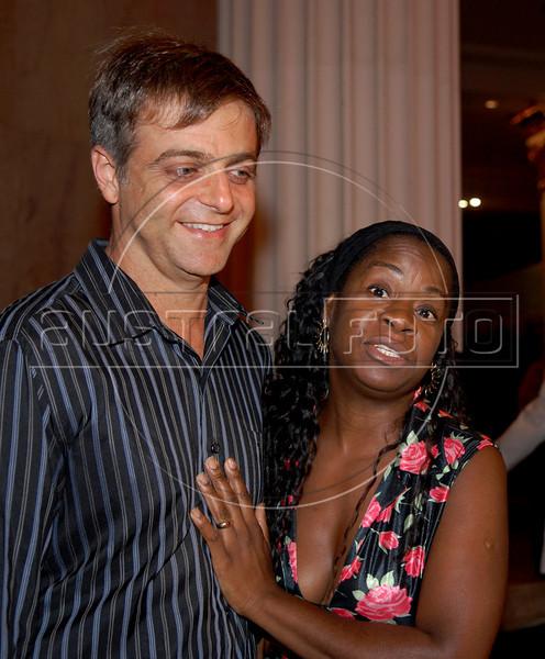 Festa de entrega dos Premio Cinema da ACIE 2009, Rio de Janeiro, Brazil, Maio 18, 2009. Sergio Goldenberg e Zezeh Barbosa. (Austral Foto/Renzo Gostoli)