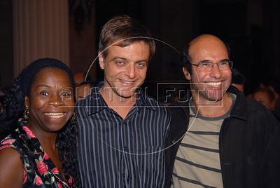 Festa de entrega dos Premios Cinema da ACIE 2009, Rio de Janeiro, Brazil, Maio 18, 2009. Zezeh Barbosa, Sergio Goldenberg e . (Austral Foto/Renzo Gostoli)