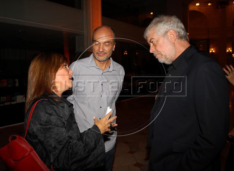 Alicia Martinez Pardies, Luiz E.Lerina e Bernardo na abertura da Mostra do Prêmio ACIE de Cinema 2009, Rio de Janeiro, Brazil, Maio 4, 2008. (Austral Foto/Renzo Gostoli)