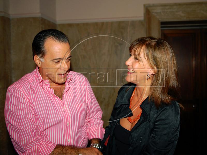 Tony Ramos e Alicia Martinez Pardies na abertura da Mostra do Prêmio ACIE de Cinema 2009, Rio de Janeiro, Brazil, Maio 4, 2008. (Austral Foto/Renzo Gostoli)