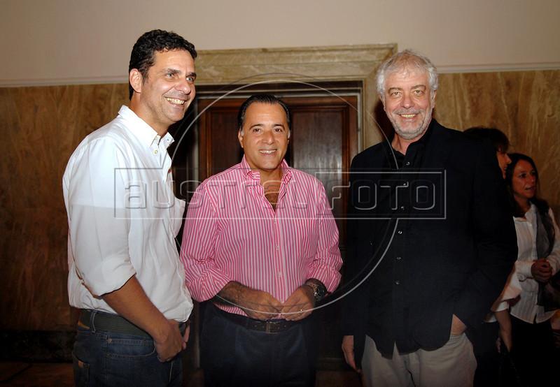 Bruno Wainer e Tony Ramos e Bernardo na abertura da Mostra do Prêmio ACIE de Cinema 2009, Rio de Janeiro, Brazil, Maio 4, 2008. (Austral Foto/Renzo Gostoli)