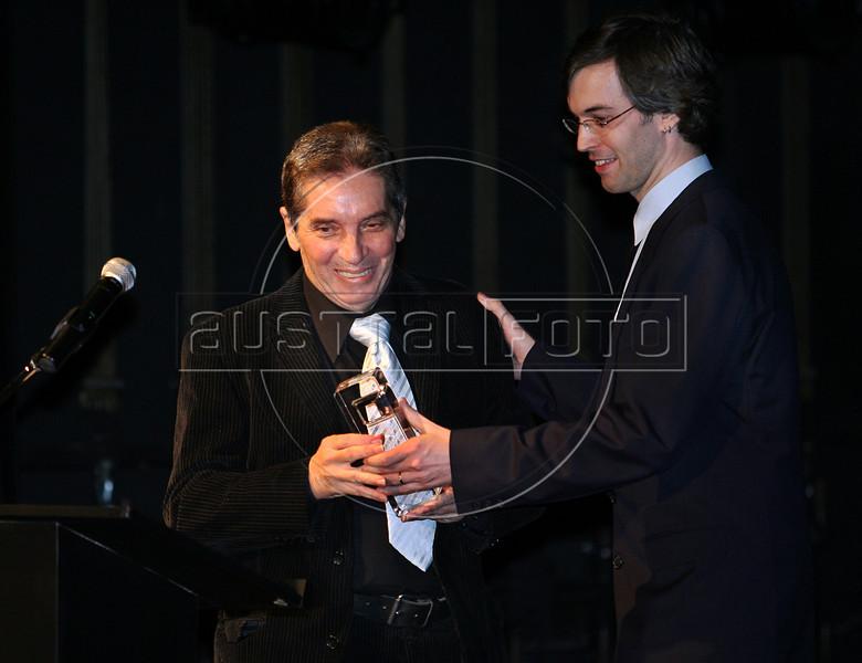 Festa de entrega dos Premio Cinema da ACIE 2009, Rio de Janeiro, Brazil, Maio 18, 2008. Domingos Oliveira, homenajeado. (Austral Foto/Andre Luiz Melo)