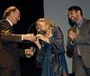 Premio ACIE de Cinema 2011- Krzysztof Gluchowski, esq, Tatiana Issa, centro, Raphael Alvarez, dir, Rio de Janeiro, Brazil, May 30, 2011. (Austral Foto/Renzo Gostoli)