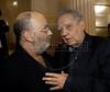 Premio ACIE de Cinema 2011- Jaques Morelembaum, esq, e Luiz Carlos Barreto, dir, Rio de Janeiro, Brazil, May 30, 2011. (Austral Foto/Renzo Gostoli)
