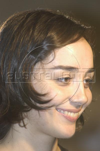 Actress Simone Spoladore smiles after the presentation of the foriegn correspondents film awards in Rio de Janeiro. Spoladore was nominated for best actress.(Douglas Engle/Australfoto)