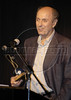 """Hector Babenco speaks after winning best director during the presentation of the foriegn correspondents film awards in Rio de Janeiro. Babenco, who directed """"Ironweed"""" and """"Kiss of the Spider Woman,"""" won for """"Carandiru.""""(Douglas Engle/Australfoto)"""