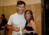 Giuseppe Bizzarri, esquerda, socio da ACIE, e Alicia Martinez Pardies, direita,  na abertura da Mostra do Prêmio ACIE de Cinema 2010, Rio de Janeiro, Brazil, Marco 15, 2010. (Austral Foto/Renzo Gostoli)