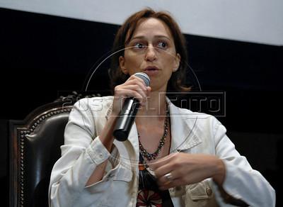"""Lais Bodansky, diretora do filme """"As melhores coisas do mundo"""",  na abertura da Mostra do Prêmio ACIE de Cinema 2010, Rio de Janeiro, Brazil, Marco 15, 2010. (Austral Foto/Renzo Gostoli)"""