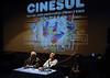 CINESUL-   I Seminário e Fórum de documentaristas latino-americanos: Orlando Senna (E) e Humberto Rios (D), Rio de Janeiro, Brasil, Junho 24, 2008. (Austral Foto/Renzo Gostoli)