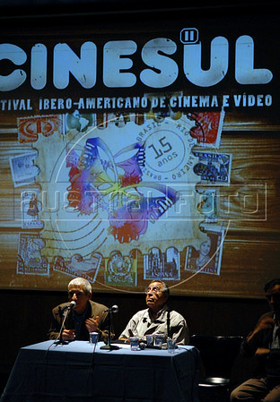 CINESUL-   I Seminário e Fórum de documentaristas latino-americanos: Orlando Senna (E), e Humberto Rios (D), Rio de Janeiro, Brasil, Junho 24, 2008. (Austral Foto/Renzo Gostoli)