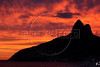 Dancing with the Devil production stills. View of the Two Brothers Mountain from Ipanema.(Australfoto/Douglas Engle)