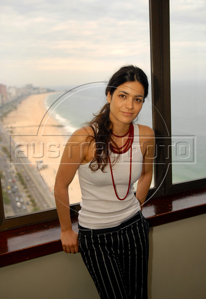 "Argentinian actress Nora Anghileri poses during the  photocall to present the film"" O Passado"" (The Past), which chronicles a married couple's difficult breakup in Rio de Janeiro, Brazil, Oct. 22, 2007.  (Austral Foto/Renzo Gostoli)"