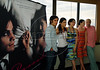 "Brasilian-Argentinian director Hector Babenco, right, poses with Mexican actor Gael Garcia Bernal, left, and Argentinian actresses Nora Anghileri, second from left, Analia Couceyro, center, and Ana Celentano, second from right, during the  photocall to present their film"" O Passado"" (The Past), which chronicles a married couple's difficult breakup in Rio de Janeiro, Brazil, Oct. 22, 2007.  (Austral Foto/Renzo Gostoli)"