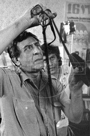 Bolivian-Argentinian film director Humberto Rios, Mex. DF, Mexico, 1984. (Austral Foto/Renzo Gostoli)