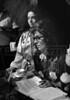 "Brazilian director Ruy Guerra, left, and greek actress Irene Papas prepare a scene of ""Erendira"" movie based on ""Candida Erendira"" of colombian Garcia Marquez, Mexico DF, Mexico, Dec. 1982.  (Austral Foto/Renzo Gostoli)"