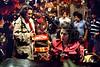 "Brazilian director Ruy Guerra, left, and greek actress Irene Papas prepare a scene of ""Erendira"" movie based on ""Candida Erendira History...""  of colombian Garcia Marquez, Mexico DF, Mexico, Dec. 1982.  (Austral Foto/Renzo Gostoli)"