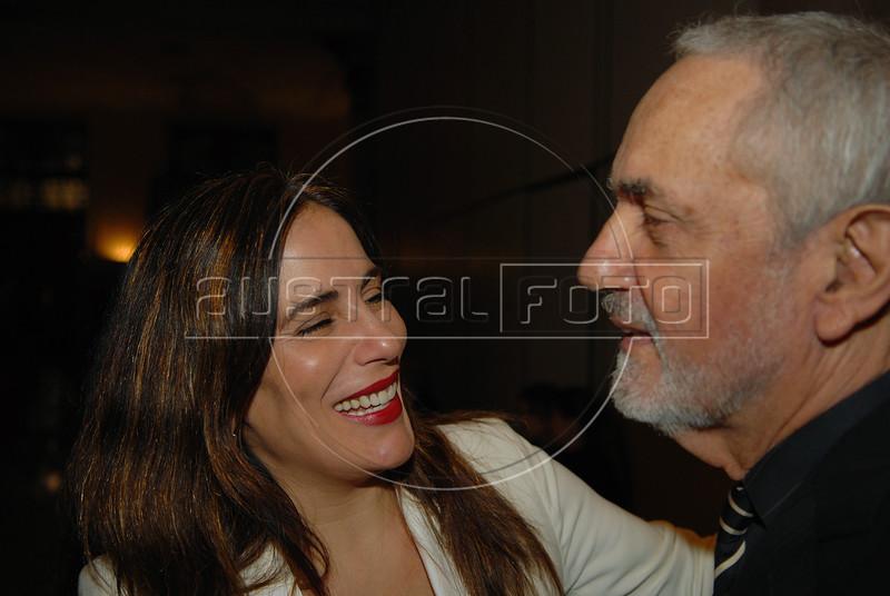 Gloria Pires, (E) e Paulo Jose (D) durante a festa de entrega dos Premio Cinema da ACIE 2008, Rio de Janeiro, Brazil, Maio 12, 2008. (Australfoto/Renzo Gostoli)