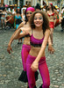 Girls dance at traditional San Telmo district during festivities of candombe, a musical genre originated from the influences of African music and developed on both banks of the Rio de la Plata because of the large influx of slaves during the colonial period, Buenos Aires, Argentina, december 12, 2006. (Austral Foto/Renzo Gostoli)