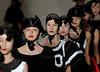Models show designs of Giulia Borges's 2010 autumn/winter collection during the Fashion Rio Show, Rio de Janeiro, Brazil, January 8, 2010.  (Austral Foto/Renzo Gostoli)