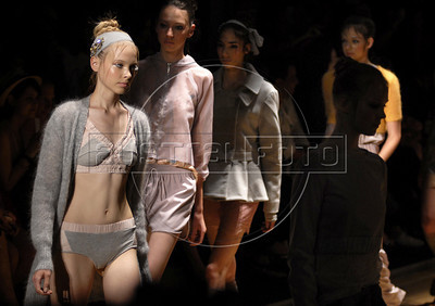 Models show designs of Maria Bonita Extra's 2011 autumn/winter collection during the Fashion Rio Show, Rio de Janeiro, Brazil, January 12, 2011.  (Austral Foto/Renzo Gostoli)