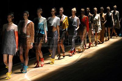Models show designs of Maria Bonita Extra's 2011 autumn/winter collection during the Fashion Rio Show, Rio de Janeiro, Brazil, January 12, 2011.  (Austral Foto/Renzo Gostoli)