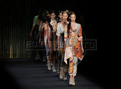 Models show designs of Teca's 2011 autumn/winter collection during the Fashion Rio Show, Rio de Janeiro, Brazil, January 13, 2011.  (Austral Foto/Renzo Gostoli)