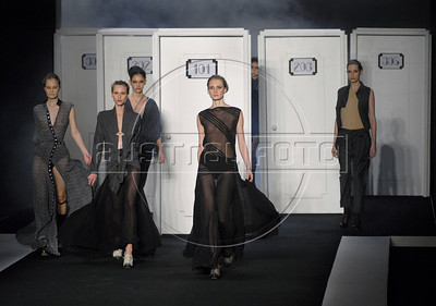 Models show designs of Filhas de Gaia's 2011 autumn/winter collection during the Fashion Rio Show, Rio de Janeiro, Brazil, January 11, 2011.  (Austral Foto/Renzo Gostoli)