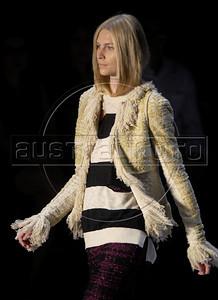 A model shows designs of Coven's 2011 autumn/winter collection during the Fashion Rio Show, Rio de Janeiro, Brazil, January 12, 2011.  (Austral Foto/Renzo Gostoli)