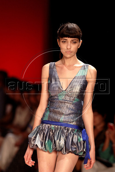 24344fa8b A model shows designs of Maria Bonita Extra's 2012 autumn/winter collection  during the Fashion