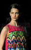A model shows designs of Sacada's 2012 spring/summer collection during the Fashion Rio Show, Rio de Janeiro, Brazil, May 22, 2012.  (Austral Foto/Renzo Gostoli)