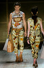 Models show designs of Herchcovitch's 2012 spring/summer collection during the Fashion Rio Show, Rio de Janeiro, Brazil, May 25, 2012.  (Austral Foto/Renzo Gostoli)