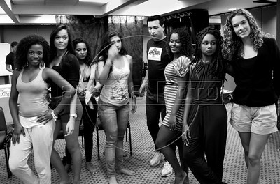 Backstage during Amendoeiras Project Summer 2012 fashion parade, Rio de Janeiro, Brazil, July 28, 2011. (Austral Foto/Renzo Gostoli)