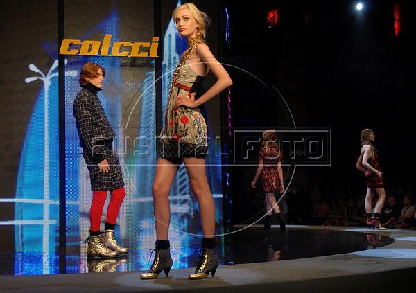 Models wear designs of Colcci's 2008 Autumn Winter collection during the Fashion Rio Show, Rio de Janeiro, Brazil, Jan. 8, 2008.  (AUSTRAL FOTO/RENZO GOSTOLI)