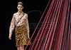 A model shows a design of Apoema's 2009 autumn/winter collection during the Fashion Rio Show, Rio de Janeiro, Brazil, January 14, 2008.  (Austral Foto/Renzo Gostoli)