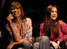 Brazilian model Adriana Lima, left, and Liliane Ferrarezi in Rio de Janeiro, Brazil, November 18, 2004. Hickman attended the launching of the Pirelli tire 2005 calendar, which features several Brazilian models.  (Douglas Engle/Australfoto)