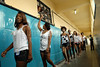 Inmates go to parade during a beauty pageant at the Talavera Bruce prison in Rio de Janeiro, Brazil, November 25, 2008. A jury elects the most beautiful among 15 contestants of three prisons in a beauty pageant held at the Talavera Bruce prison. The Miss Talavera Bruce Beauty Pageant is an important break from the routine life of about 330 female inmates in the maximum security prison. The Rio de Janeiro prison is a notorious Bangu area, where some of Rio's top drug traffickers are held. The fifth annual pageant, which the VivaRio non-governmental organization helps organize, tries to transform these dangerous criminals into beautiful, dazzling, beauty pageant hopefuls for one day. (Austral Foto/Renzo Gostoli)