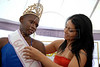 "Joyce da Silva, 25, left, receives the band of ""Garota Talavera Bruce"" from Dione Normando, ""Garota Talavera Bruce 2007"" after she was elected the most beautiful among 15 contestants of three prisons in a beauty pageant held at the Talavera Bruce prison in Rio de Janeiro, Brazil,  November 25, 2008. The Miss Talavera Bruce Beauty Pageant is an important break from the routine life of about 330 female inmates in the maximum security prison. The Rio de Janeiro prison is a notorious Bangu area, where some of Rio's top drug traffickers are held. The fifth annual pageant, which the VivaRio non-governmental organization helps organize, tries to transform these dangerous criminals into beautiful, dazzling, beauty pageant hopefuls for one day. (Austral Foto/Renzo Gostoli)"