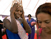 Joyce da Silva, 25, gestures  after she was elected the most beautiful among 15 contestants of three prisons in a beauty pageant held at the Talavera Bruce prison, Rio de Janeiro, Brazil, November 25, 2008. A jury elects the most beautiful among 15 contestants of three prisons in a beauty pageant held at the Talavera Bruce prison; Rusky Mthethna obtain the 3rd. place and the Elegance trophy. The Miss Talavera Bruce Beauty Pageant is an important break from the routine life of about 330 female inmates in the maximum security prison. The Rio de Janeiro prison is a notorious Bangu area, where some of Rio's top drug traffickers are held. The fifth annual pageant, which the Viva Rio non-governmental organization helps organize, tries to transform these dangerous criminals into beautiful, dazzling, beauty pageant hopefuls for one day. (Austral Foto/Renzo Gostoli)