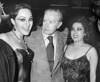 "Mexican writer Juan Rulfo (1917-1986), author of ""El llano en llamas"" and ""Pedro Paramo"", with theatre artists, Mexico D.F., Mexico, July 05, 1983. (Austral Foto/Renzo Gostoli)"