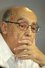 Jose Saramago of Portugal and 1998 Nobel Prize in literature listens to comments at the World Social Forum in Porto Alegre, Brazil, Jan. 29, 2005. The eclectic gathering of pacifists, environmentalists, libertarians, trade unionists and anti-establishment militants was timed to coincide with its nemesis, the World Economic Forum held thousands of kilometers (miles) away in the swank Swiss mountain resort of Davos. (Douglas Engle/Australfoto)