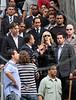 Pop star Madonna and Rio de Janeiro' governor, left, visit the Santa Marta slum, Rio de Janeiro, Brazil, November 13, 2009. (Austral Foto/Angelo A. Duarte)