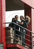 Pop star Madonna, right, and Rio de Janeiro' governor, left, and his wife visit the Santa Marta slum, Rio de Janeiro, Brazil, November 13, 2009. (Austral Foto/Angelo A. Duarte)