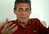 Brazilian musician and writer Chico Buarque speaks with a journalist during an interview at home, Rio de Janeiro, Brazil, Jan. 16, 2007.  (Australfoto/RenzoGostoli)