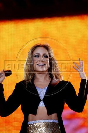 "Brazilian singer Claudia Leitte performs during the Rock in Rio music festival, at the ""City of Rock"", Rio de Janiero, Brazil,  September 24, 2011. (Austral Foto/Renzo Gostoli)"