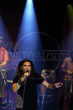 Samba singer Marcos Sacramento performs at Teatro Rival, Rio de Janeiro, Brazil, Aug. 17, 2005. (Australfoto/Renzo Gostoli)