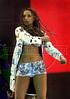 Brazilian singer Daniela Mercury performs at Rock in Rio 3 festival, Rio de Janeiro, Brazil, Jan. 12, 2001. (Australfoto/Renzo Gostoli)