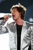 Mick Jagger performs with the Rolling Stones to in Rio de Janeiro, Feb. 18, 2006.(AustralFoto/Douglas Engle)